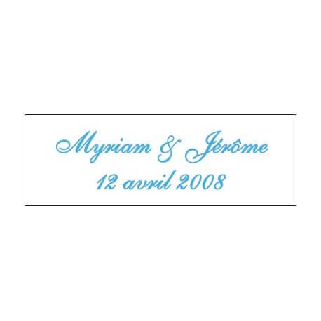 Lot d'étiquettes personnalisées Bleu lagon - Étiquettes pour boîtes à dragées - Dragées Braquier