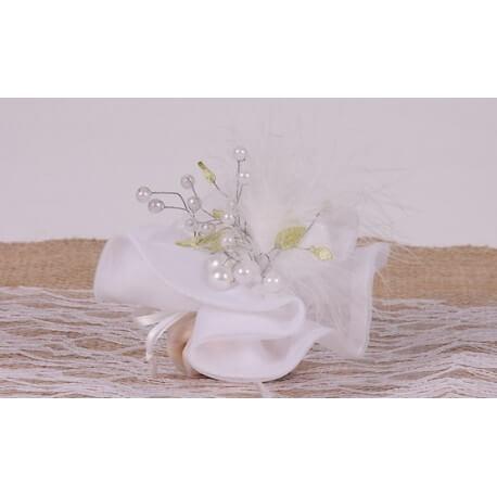 Piquet perle sur tulle - Boîtes à dragées - Dragées Braquier