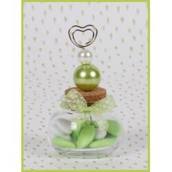 Perle verte sur pot