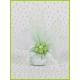 Fleur verte sur tulle