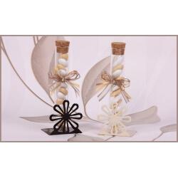 Duo fleur métal