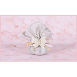 Fleur rose/taupe sur tulle