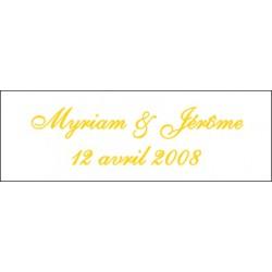 Lot d'étiquettes personnalisées Jaune - Étiquettes pour boîtes à dragées - Dragées Braquier