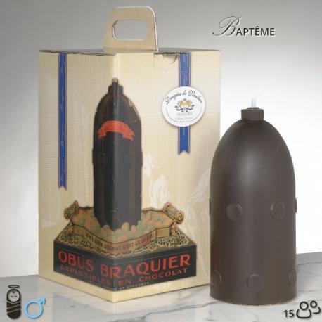 Obus N°2 Baptême garçon - Dragées Braquier, confiseur chocolatier à Verdun