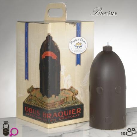 Obus N°3 Baptême fille - Dragées Braquier, confiseur chocolatier à Verdun