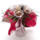 Bouquet siegrid crème - fuchsia