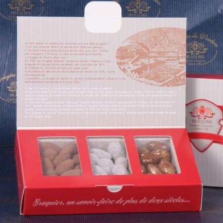 Écrin Dégustation n°1 de 210gr - Dragées Braquier, confiseur chocolatier à Verdun
