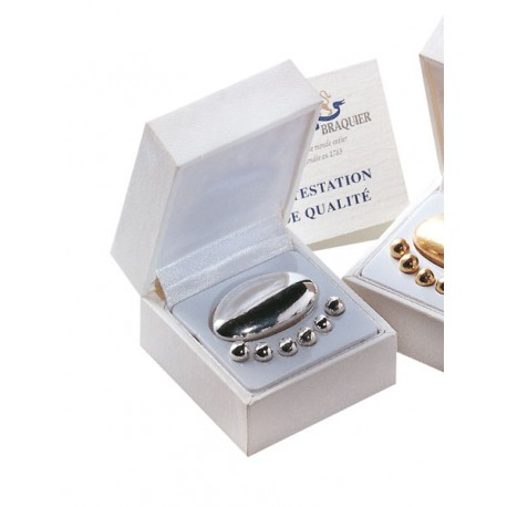 Silver jewellery case - Dragées Braquier, confiseur chocolatier à Verdun