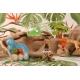 Œuf Dino bleu - Boule de dragées - Collection complète