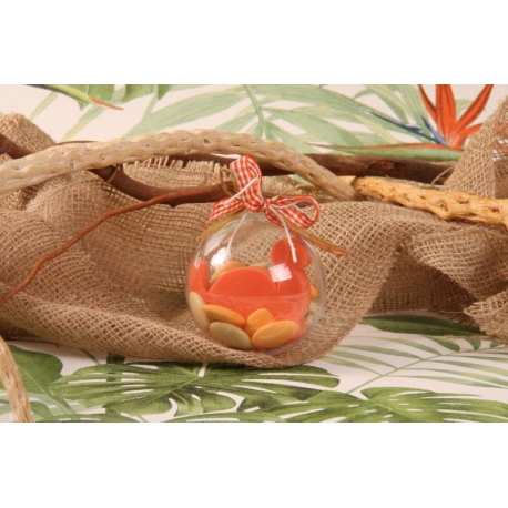 Œuf Dino orange - Boîte à dragées