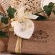 Cœur sur Vendôme cacao - Boîte à dragées Mariage Nature