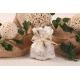 Pochon à dragées dentelle taupe - Boîte à dragées Mariage Nature