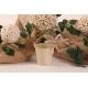 Seau écru et toile de jute - Boîtes à dragées - Dragées Braquier