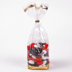 Chocolate dragee BBR,  Confectioner-bag 500g - Dragées Braquier, confiseur chocolatier à Verdun
