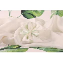 Pochon blanc à pois verts