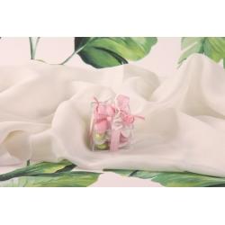 Boite à dragées carrée vichy rose - Transparente, en PVC