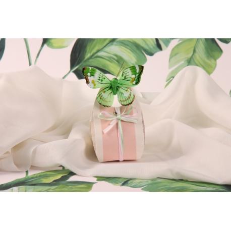 Corail GLORIA papillon vert - Boîtes à dragées - Dragées Braquier