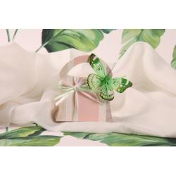 Sixties GLORIA papillon vert - Boîte à dragées exclusive BRAQUIER