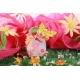 Corail FLEURI papillon jaune, boîte à dragées - Collection Baptême Pauline Fleurie