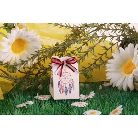 Attrape rêve Iris - Boîte à dragées Ethnique-Chic, Collection Mariage sur l'Herbe