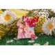 Sixties FLEURI papillon fuchsia - Boîte à dragées, Collection Mariage sur l'Herbe
