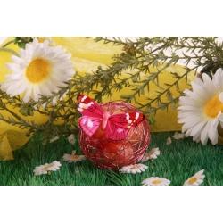 Papillon fuchsia sur boule métal - Boîte à dragées, Collection Mariage sur l'Herbe