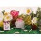 Caritas blanche ruban bordeaux - Boîte à dragées, Collection Mariage sur l'Herbe