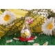 Cœur fuchsia sur goutte - Boîte à dragées, Collection Mariage sur l'Herbe