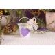 Cœur lilas sur seau à dragées - Collection Mariage Provençal
