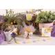 Cœur jaune sur seau à dragées - Collection Mariage Provençal