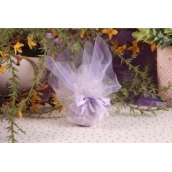 Tulle mauve - Boîtes à dragées - Dragées Braquier