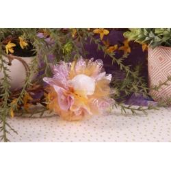 Tulle mauve et fleur strass