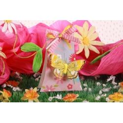 Arbre FLEURI papillon jaune - Boîtes à dragées - Dragées Braquier