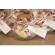 Lot d'étiquettes personnalisées Gris Taupe - Étiquettes pour boîtes à dragées - Dragées Braquier