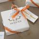 Lot d'étiquettes personnalisées Orange - Étiquettes pour boîtes à dragées - Dragées Braquier