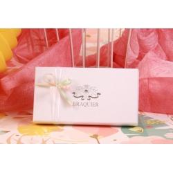 Écrin vendôme blanc - Boîte à dragées