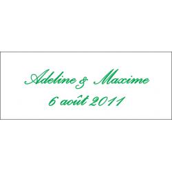 Lot d'étiquettes personnalisées Vert Sapin - Étiquettes pour boîtes à dragées - Dragées Braquier