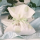 Pochon blanc à pois vert