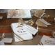 Lot d'étiquettes personnalisées Or Contour noir - Étiquettes pour boîtes à dragées - Dragées Braquier