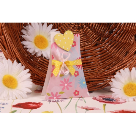Cœur jaune sur Arbre Fleuri - Boîtes à dragées - Dragées Braquier