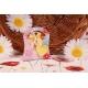Cœur jaune sur Sixties Fleuri - Boîtes à dragées - Dragées Braquier