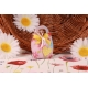 Cœur jaune sur Corail Fleuri - Boîtes à dragées - Dragées Braquier