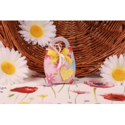 Cœur jaune sur Corail Fleuri - Boîte à dragées