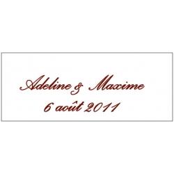 Lot d'étiquettes personnalisées Marron - Étiquettes pour boîtes à dragées - Dragées Braquier