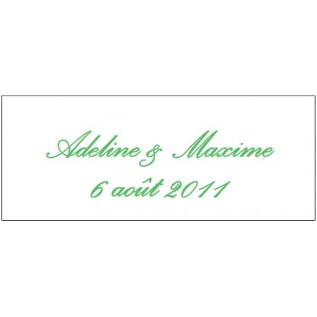 Lot d'étiquettes personnalisées Vert Menthe - Étiquettes pour boîtes à dragées - Dragées Braquier