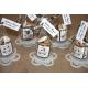 Lot d'étiquettes personnalisées Noir - Étiquettes pour boîtes à dragées - Dragées Braquier