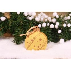 Boule de Noël or - Décorations gourmandes