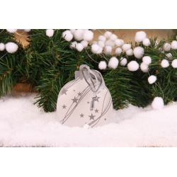 Boule de Noël argentée - Décorations gourmandes