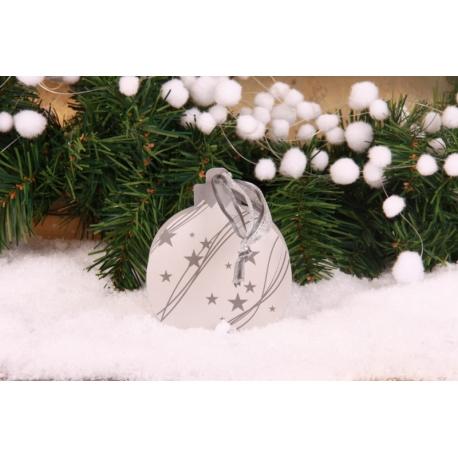 Boule de Noël argentée - Boîtes à dragées - Dragées Braquier