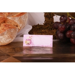 Carte de table - Boîtes à dragées - Dragées Braquier